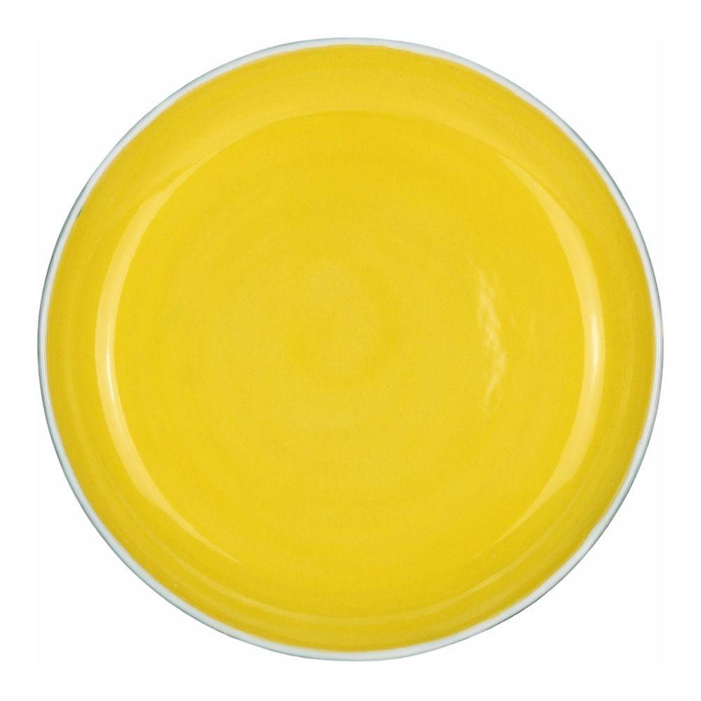 Prato Raso Grande 30cm Santorini Amarelo