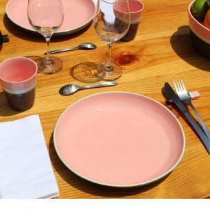 Prato De Sobremesa 21cm Santorini Rosa