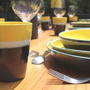 Prato Raso 26cm Santorini Amarelo