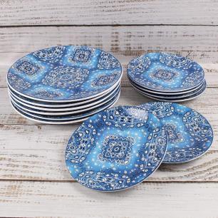 Prato Raso 27cm Bandana Azul