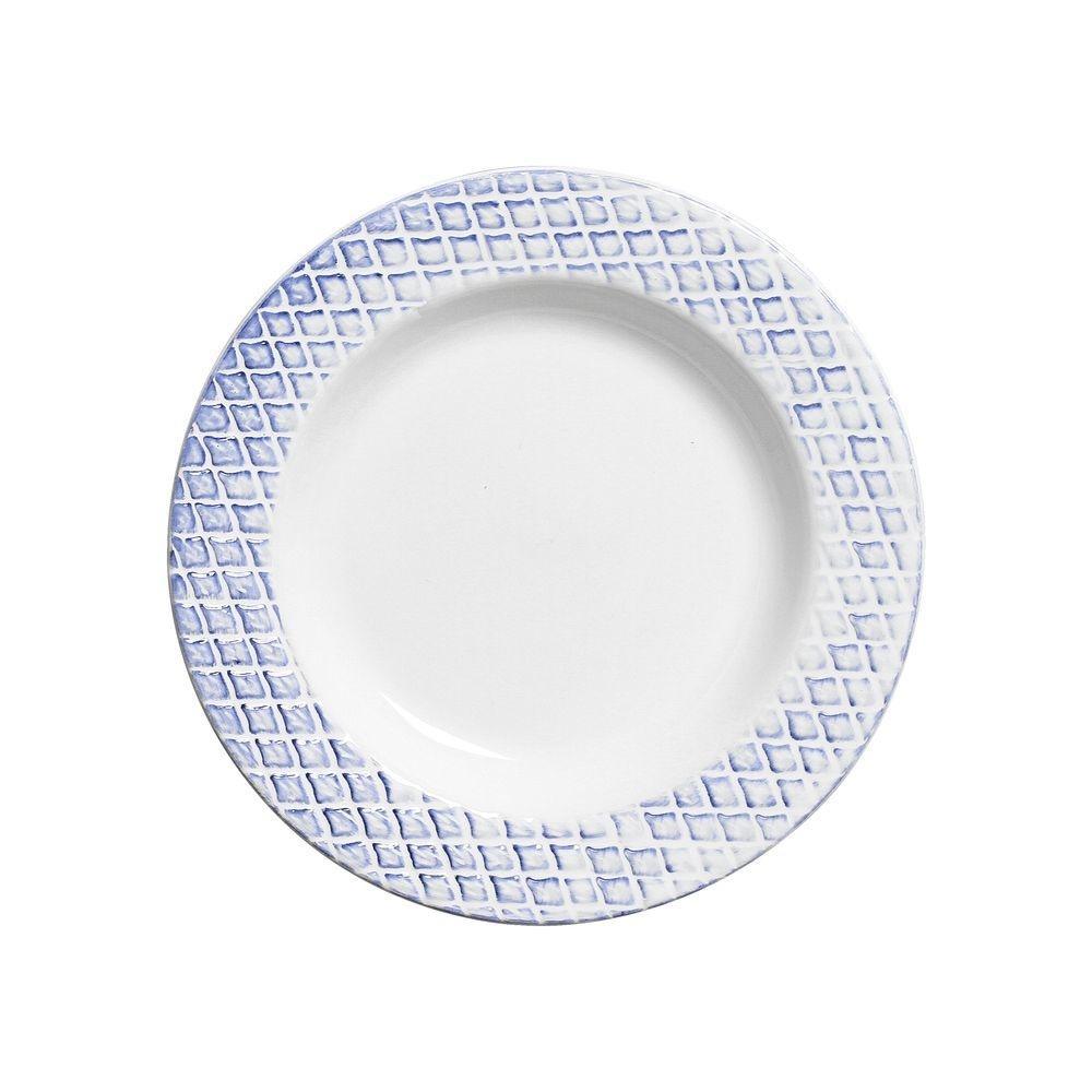 Prato Fundo 25cm Abacaxi Provence Branco Azul