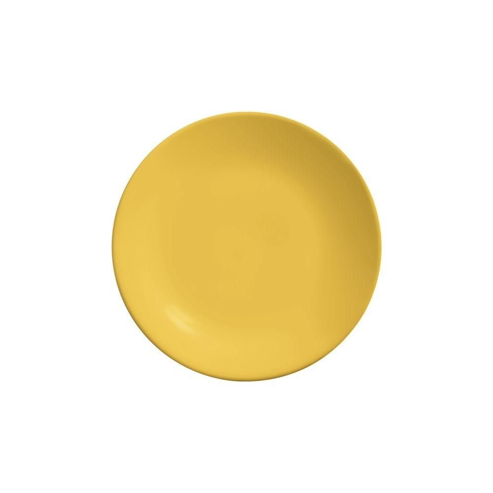 Prato De Sobremesa 20cm Rainbow Amarelo