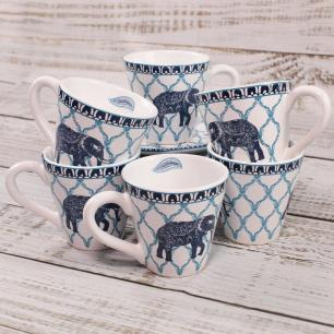 Xícara De Chá Bangalore Branco Azul