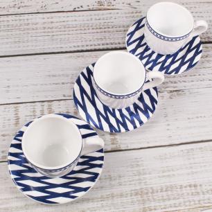 Xícara De Café Ibiza Branco Azul