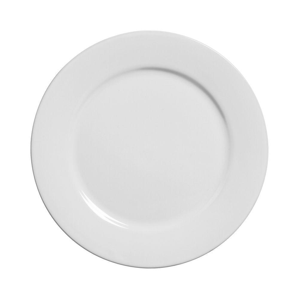 Prato Raso 27cm Linha Reta Branco