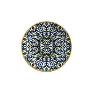Prato De Sobremesa 20cm Bombaim Azul