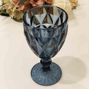 Taças de Vidro 325ml 6 peças Diamond Azul - Lyor 6502