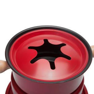 Panela de Fondue Vermelha 16cm 11 peças - Casambiente FD214A