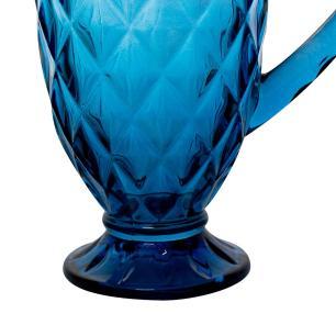 Jarra de Vidro Diamond Azul 1,1L - Casambiente JAVI028