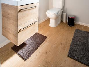 Tapete Para Banheiro Marrom 38x58cm -Casambiente TAPE039-Mar