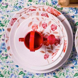 Aparelho De Jantar Vermelho Amor 20 Peças - Oxford REF:1661