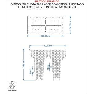 Kit 1 Império Cristal Crilik Pl7203 Cromado c/Lamp.