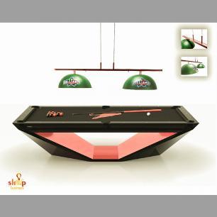 Lustre Ls7500 Mesa de Billiard Luxo Cromado + Lamp