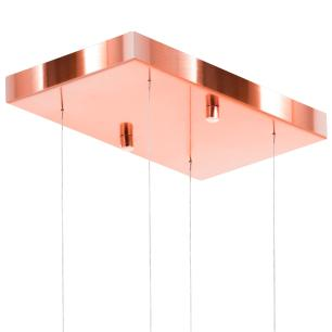 Lustre Pendente Plafon Império CristalCrilikLs7204 Rose Gold