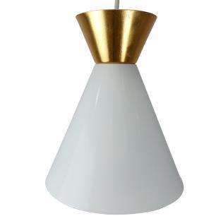 Kit 4 Pendente Sinus 4001 Branco c/ Dourado/1