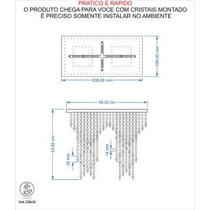 Kit 1 Império Cristal Crilik Pl7203 + 1 Ls7202 Cromado