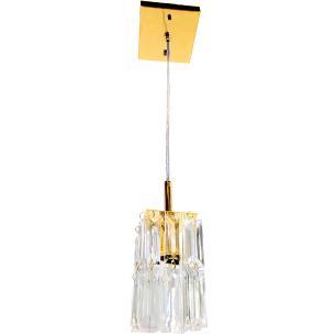 Kit  2 Lustre 7401/1 Dourado c/Lamp.s