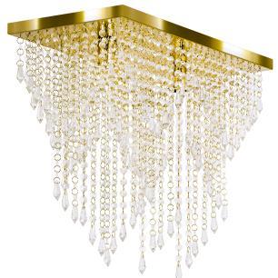 Kit 1 Império Cristal Crilik Pl7203 + 2 Pl7201 Dourado
