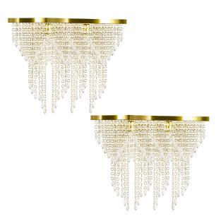 Kit 2 Império Cristal Crilik Pl7203 Dourado