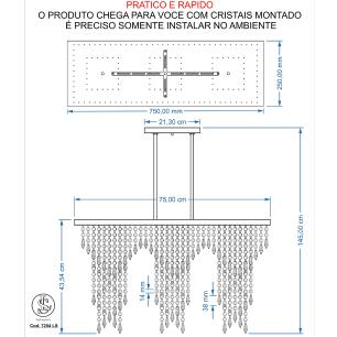 Kit 1 Império Cristal Crilik Ls7204 + 1 Ls7202 Cromado
