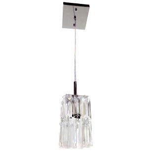 Kit 1 Lustre 7401/1 Cromado c/Lamp.s