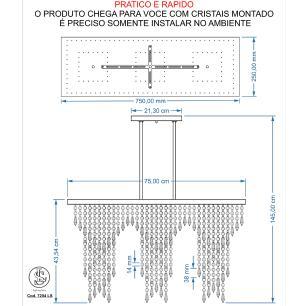 Kit 1 Império Cristal Crilik Ls7204 + 1 Pl7202 Cromado