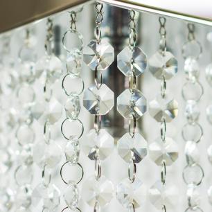 Kit 2 Plafon 7202 Cromado Brilhante c/Lamp. 25x45cm
