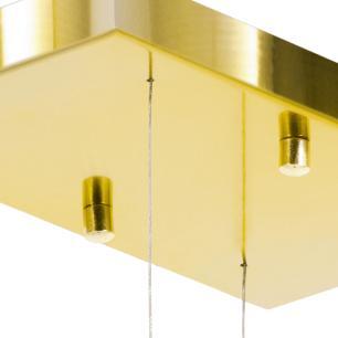 Lustre Pendente Plafon Império Cristal Crilik Ls7203 Dourado