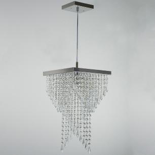 Kit 1 Lustre 7202 + 1 Plafon 7201 Cromado Brilhante c/Lamp.