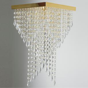 Kit 1 Plafon 7202 + 1 Plafon 7201 Dourado Brilhante c/Lamp.