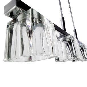 Pendente Gelo Transparente /4 7024 Cromado