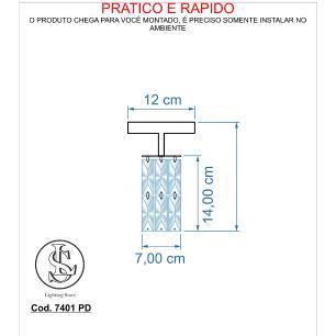 Kit  4 Plafon 7401/1 Dourado c/Lamp.s