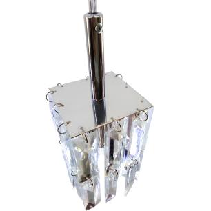Kit 3 Lustre 7401/1 Cromado c/Lamp.s