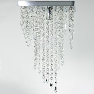 Kit Plafon 7202 Cromado Brilhante c/Lamp. 25x45cm