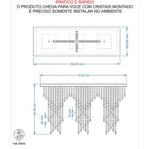 Kit 2 Império Cristal Crilik Pl7204 Cromado