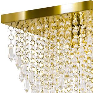 Kit 1 Império Cristal Crilik Ls7204 + 3 Pl7201 Dourado