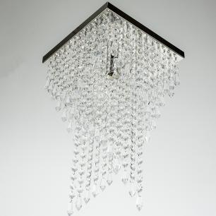 Lustre Pendente Plafon Cristal Crilick Pl7202 Cromado