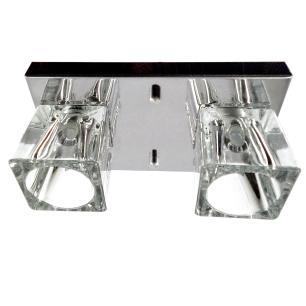 Kit 2 Plafon 7012 c/Lamp. G-9 Cromado