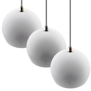 Pendente Bola Branco/Dourado /1 3001