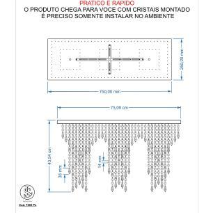 Kit 1 Império Cristal Crilik Pl7204 + 3 Ls7201 Cromado