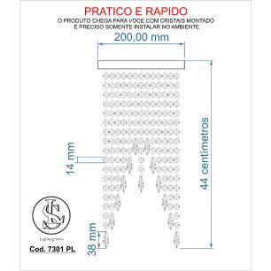 Kit 2 Plafon Redondo Crilik Pl7301 Cromado