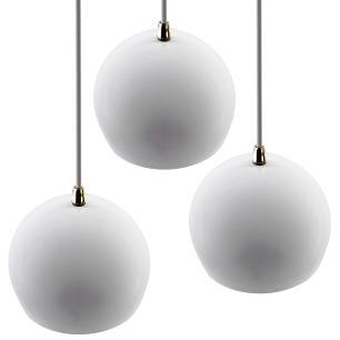 Pendente Bola Branco/Dourado /3 3003