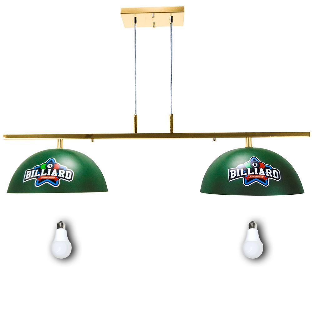 Lustre Ls7500 Mesa de Billiard Luxo Dourado + Lamp