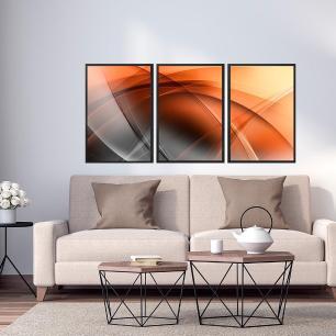 Quadros Decorativos Abstrato Moldura Sem Vidro