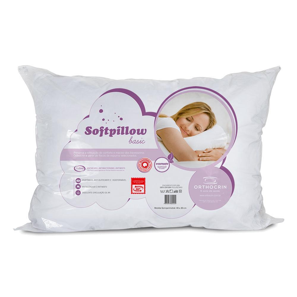 Travesseiro Espuma Orthocrin Basic Softpillow (43X62X15)
