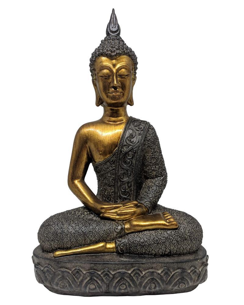 Estatueta Decorativa de Resina Valence Buda 18,5x11,5x30cm