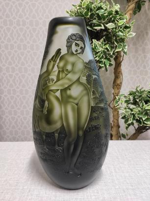 Vaso Decorativo de Vidro Valence Mulher 45x23x12cm