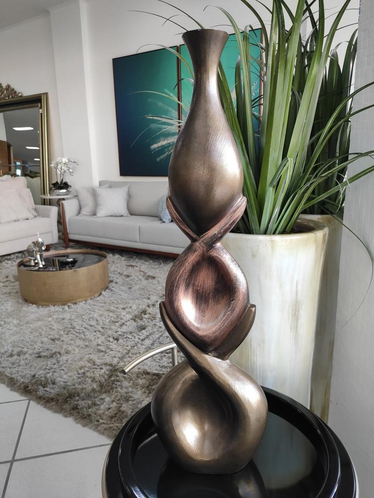 Garrafa Decorativa em Alumínio Valence 75x22x11cm
