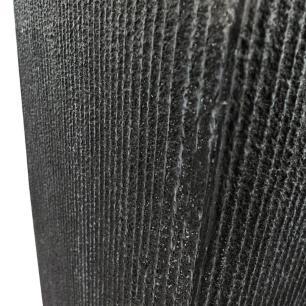 Vaso Cachepot Planta Externo Cimento Retangular Preto 26x60cm
