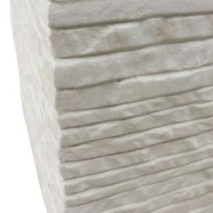 Vaso Cachepot Planta Externo Cimento Quadrado Branco 22x24cm